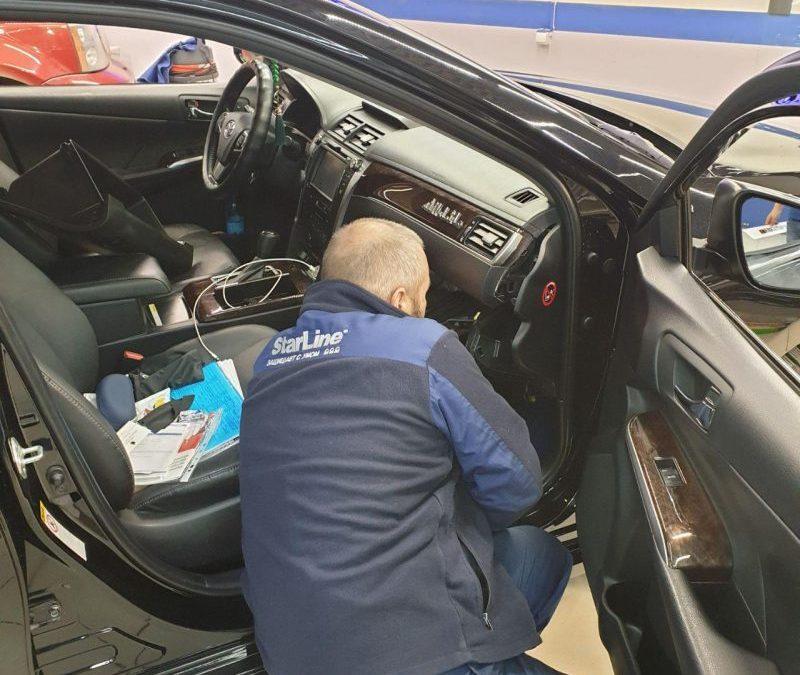 Установка автосигнализации StarLine E96 на автомобиль Toyota Camry