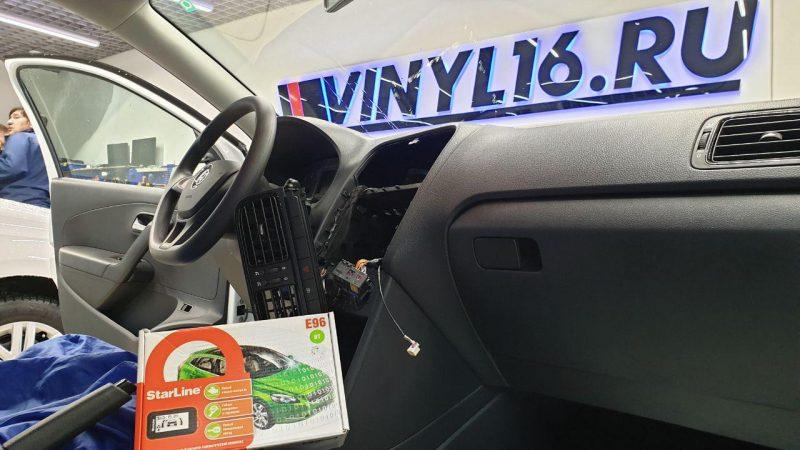 VW Polo — установка автосигнализация  StarLine E96 BT c автозапуском