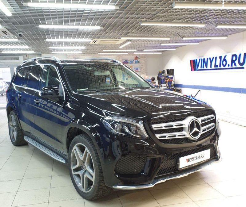 Mercedes GLS 350D — бронирование полиуретановой плёнкой премиум класса Hogo Maku