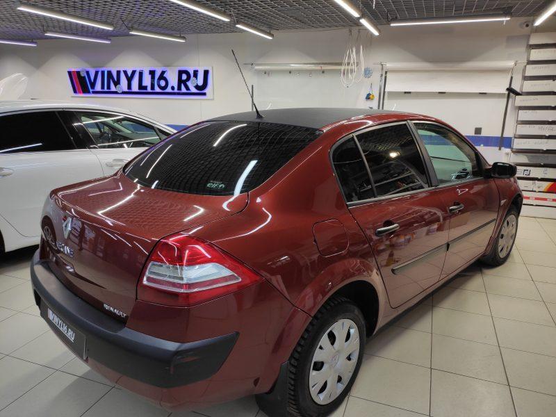 Renault Megane — оклейка крыши пленкой алмазная крошка