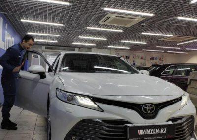 Тонировка стекол автомобиля Toyota Camry пленкой Shadow Guard
