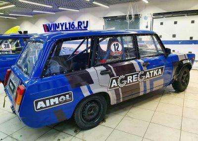 Брендирование спортивного автомобиля ВАЗ для компании Agregatka