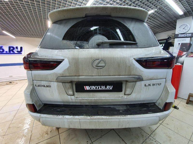 Lexus LX570 — тонировка фар автомобиля полиуретановой пленкой STEK