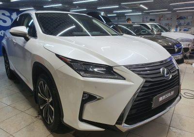 Lexus RX300 — бронирование фар полиуретаном и лобового стекла