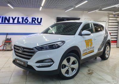 Hyundai Tucson — брендирование автомобиля в Казани