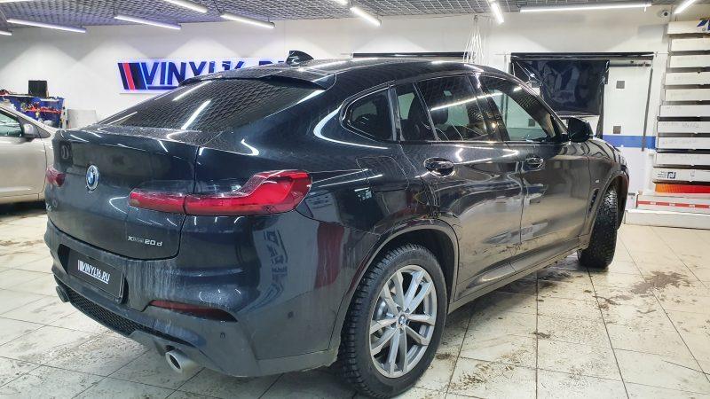BMW X4 — тонировка боковых стекол автомобиля пленкой Global 80%