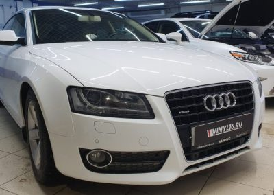 Бронирование зон риска полиуретановой пленкой Audi A5