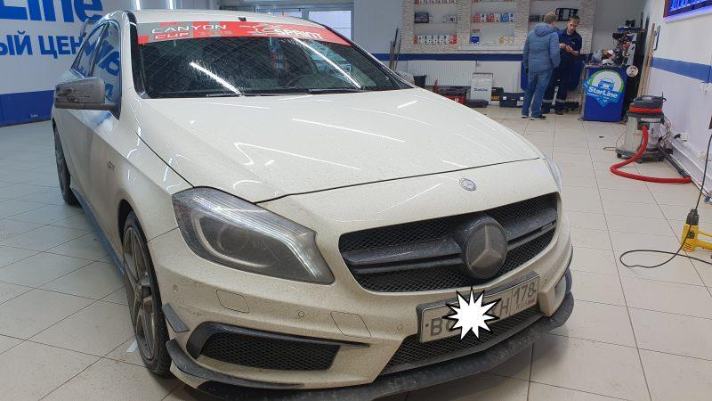Mercedes-AMG A 45 — брендирование автомобиля