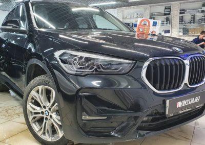 BMW X1 — установка на автомобиль сигнализации StarLine A93, тонировка задней полусферы Johnson 80%