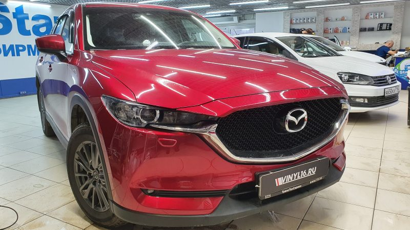 Mazda CX-5 — бронирование кузова и фар полиуретановой пленкой