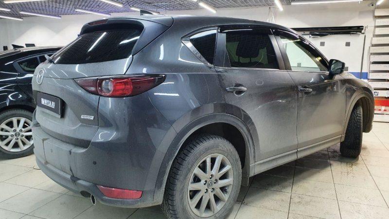 Mazda CX5 — тонировка задней полусферы LLumar 95