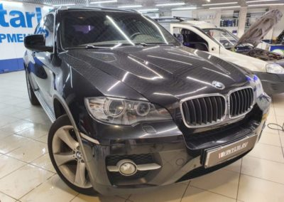 BMW X6 — тонировка боковых стекол пленкой Global 65%