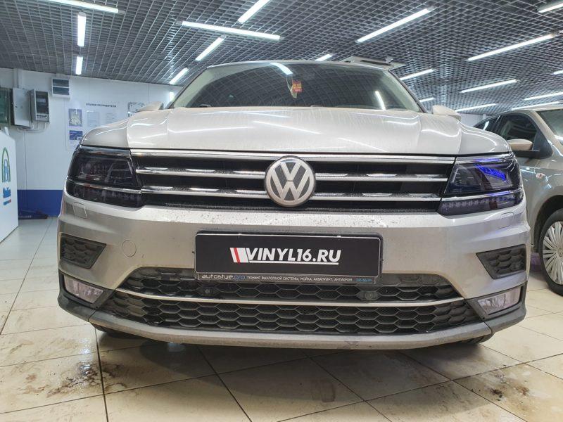 Volkswagen Tiguan — бронирование фар и птф пленкой STEK с затемнением