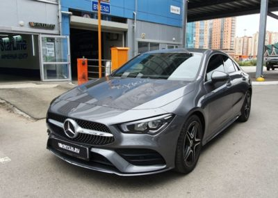 Тонировка стекол автомобиля Mercedes GLA 200 — задняя часть 95%, боковые стекла 65%