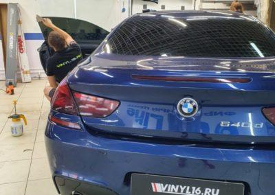 BMW 6 — тонировка боковых стекол пленкой Johnson 95%