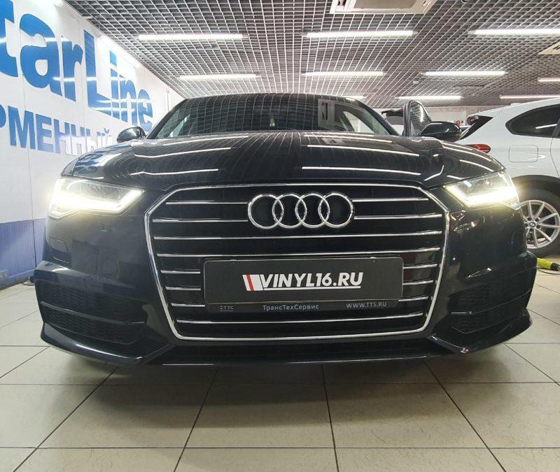 Audi A6 — тонировка боковых стекол пленкой LLumar 50%