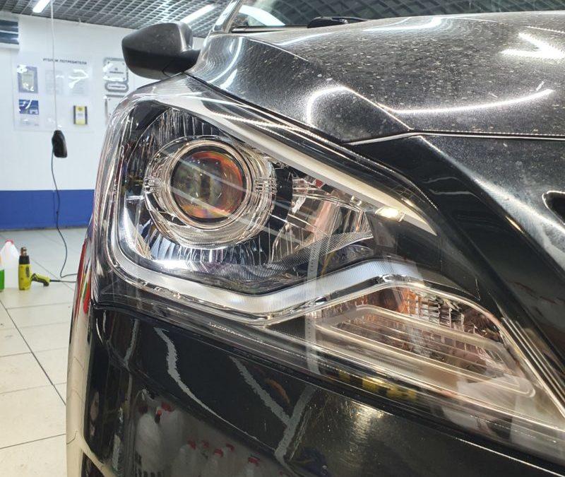 Hyundai Solaris — полировка и бронирование фар автомобиля
