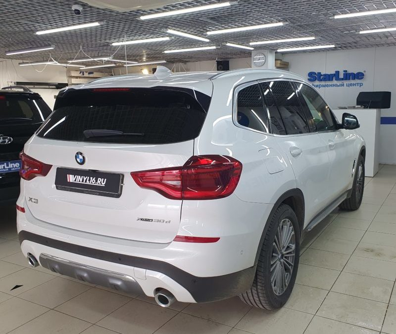 BMW X3 — тонировка задних стекол автомобиля премиальной пленкой LLumar 95%