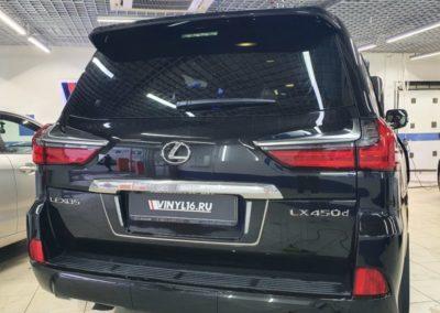 Тонировка стекол автомобиля Lexus LX450 пленкой LLumar 95, бронирование фар