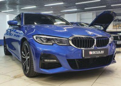 BMW 3 серии — тонировка стекол авто пленкой LLumar 95, бронирование фар и ручек