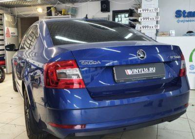 Ремонт вмятин на кузова автомобиля Skoda Octavia