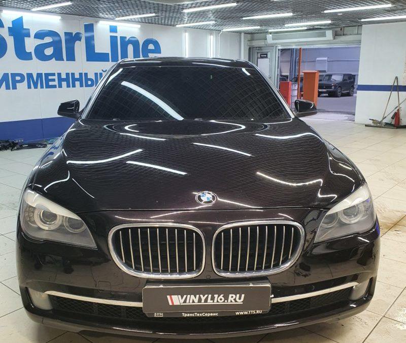BMW 7 — тонировка лобового стекла пленкой Shadow Guard