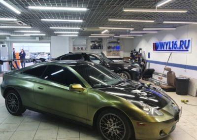 Тонировка боковых стекол Toyota Celica пленкой Shadow Guard