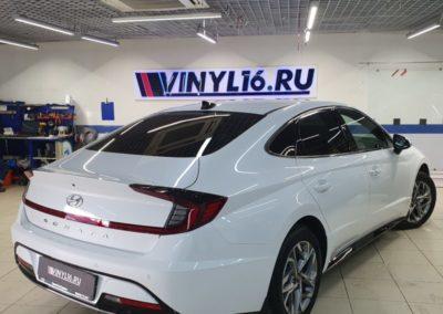 Hyundai Sonata — тонировка стекол пленкой Shadow Guard, бронирование фар, ручек, порогов