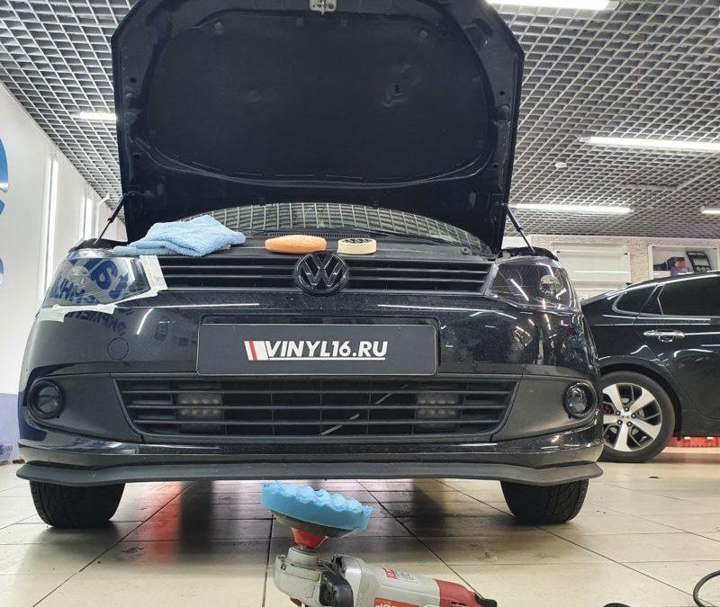 VW Polo — полировка кузова автомобиля и бронирование оптики