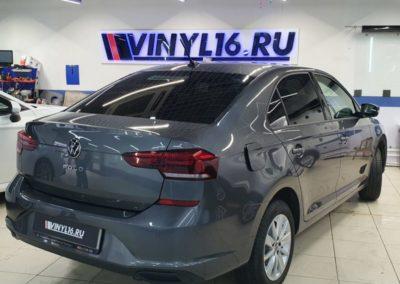 Новый VW Polo 2020 — установили автосигнализацию новой версии StarLine S96 v2, забронировали фары и затонировали стекла пленкой Shadow Guard