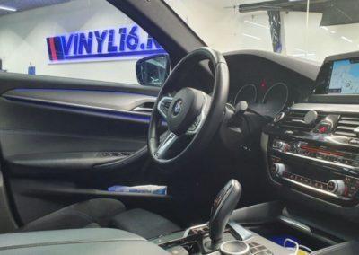 BMW 5 серии — тонировка боковых стекол пленкой Shadow Guard 65%