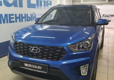 Автомобиль Hyundai Creta приехал на тонировку задней полусферы пленкой Shadow Guard 95%