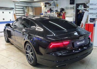Сделали тонировку пленкой Shadow Guard 95% стекол автомобиля Audi A7
