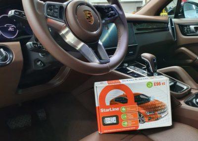 Установка автосигнализации StarLine E96 с модулями GSM и GPS на новый автомобиль Porshe Cayenne
