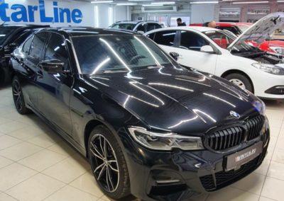 Новая BMW 3 — бронирование полиуретановой пленкой для защиты от сколов и царапин, тонировка атермальной пленкой