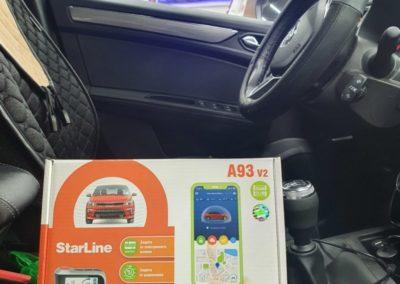 Renault Arkana — установили сигнализацию StarLine A93, тонировка стекол LLumar 95%, скрытая проводка для видеорегистратора