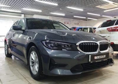 Новая BMW 3 серии — бронирование кузова полиуретановой пленкой и тонировка стекол Llumar