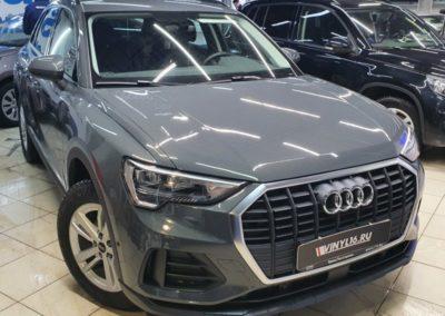 Новая Audi Q3 — бронирование полиуретановой пленкой капота, передних фар и зон риска