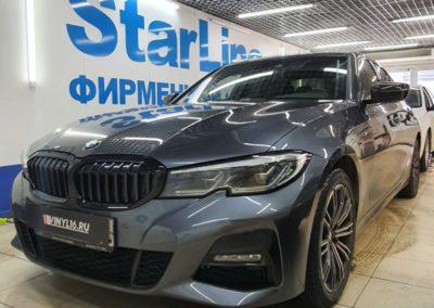 BMW 320 — тонировка стекол атермальной пленкой LLumar 50%