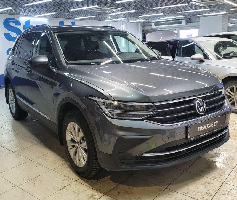 Бронирование бампера и зоны выгрузки на новом автомобиле VW Tiguan 2021