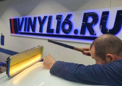 Ремонт вмятин без покраски — ремонт капота и переднего левого крыла автомобиля Hyundai Solaris