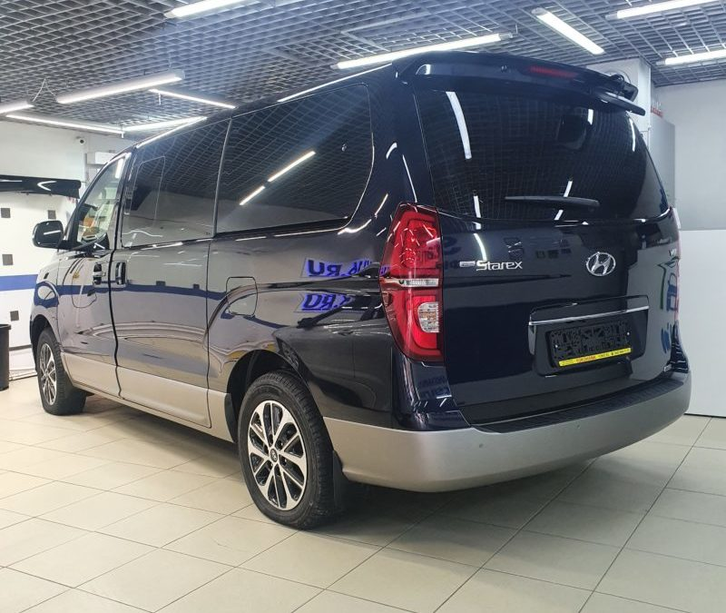 Hyundai Starex — установили StarLine A93, тонировка стекол LLumar 95%, комплексное бронирование полиуретановой пленкой