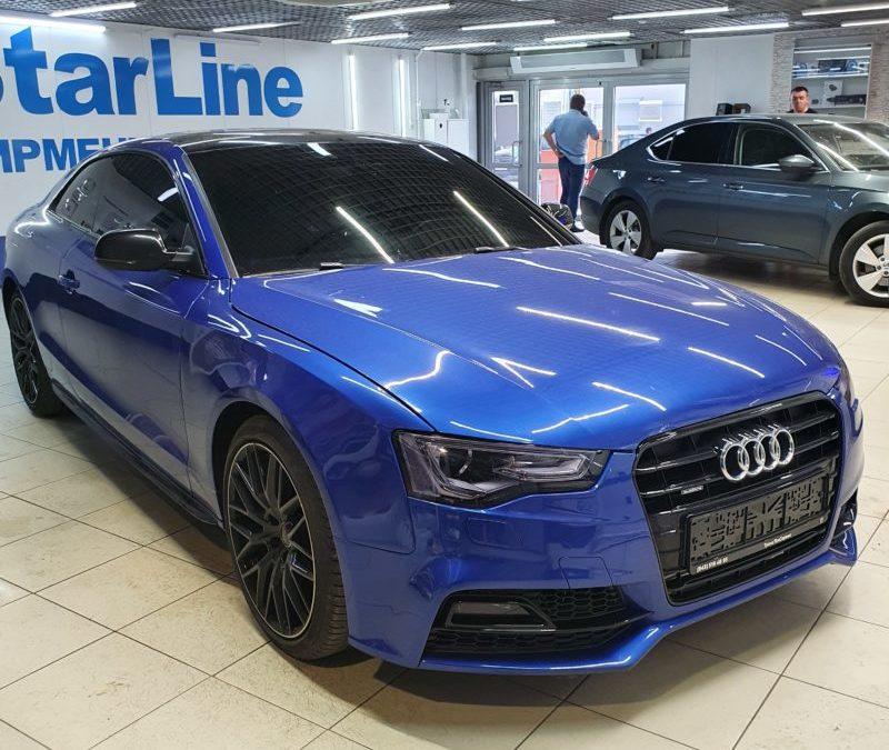 Тонировка стекол автомобиля Audi A4 пленкой Llumar