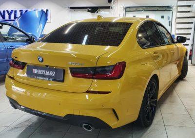 BMW 3 серии — бронирование капота, бампера, лобового стекла, тонировка боковых атермальной пленкой