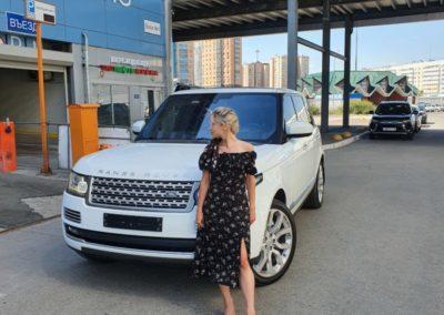 Range Rover Sport  — ремонт вмятины без покраски на крыле автомобиля