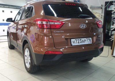 Hyundai Creta — тонировка задних стекол пленкой Llumar 95%, тонировка боковых атермальной пленкой 20%
