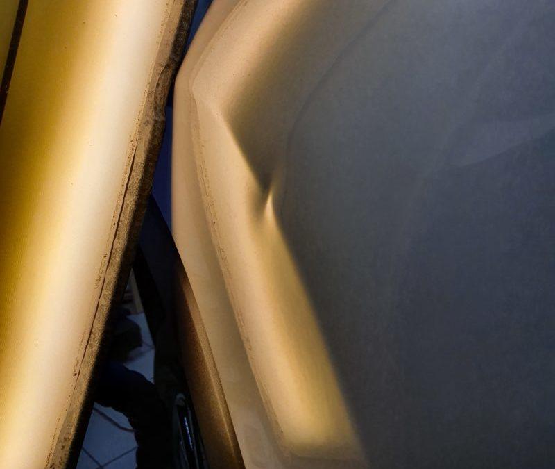 Ремонт вмятины на кузове автомобиля Toyota Highlander