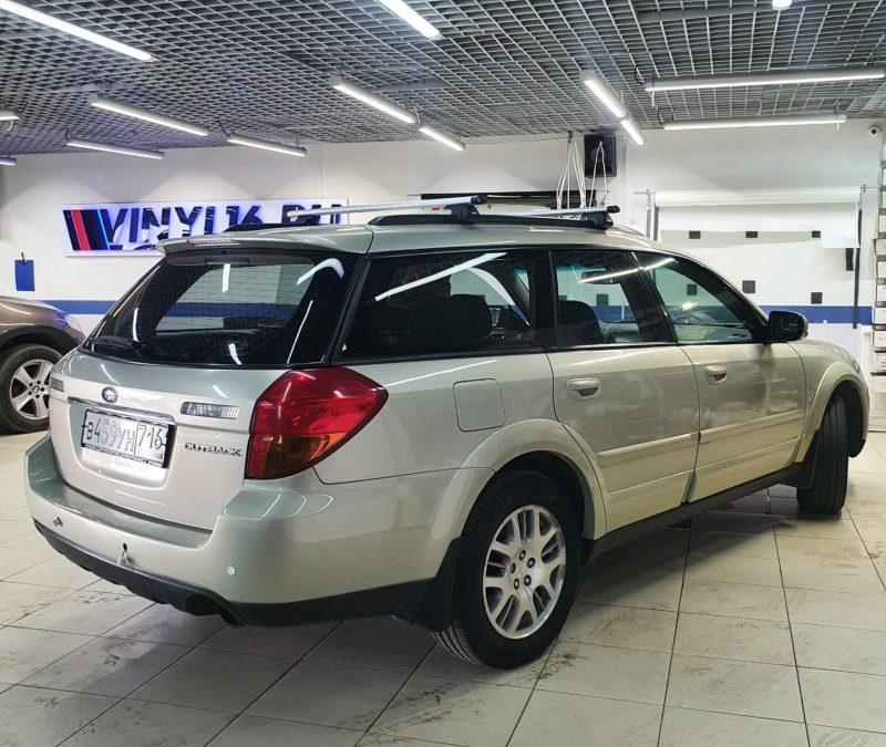 Subaru Outback — полировка и бронирование фар, тонировка стекол пленкой UltraVision 50%