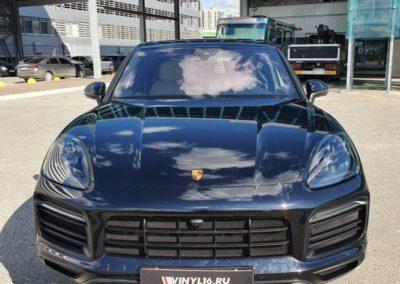 Porsche Cayenne — комплексное бронирование полиуретановой пленкой, установка StarLine E96