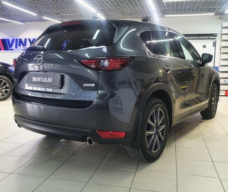 Mazda CX-5 — полировка стоек, бронирование пленкой ПВХ стоек, зеркал и ручек